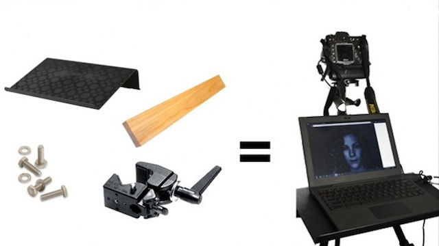 Build Your Own Tripod-Mounted Laptop Stand on the Cheap