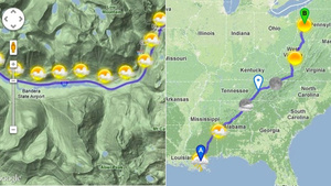 Road Trip Planner Lets You Choose a Route With the Best Weather