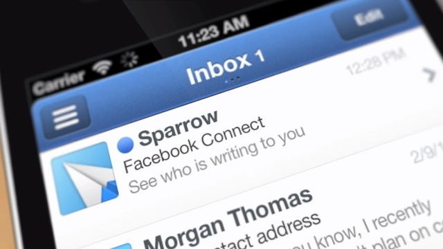 Click here to read Sparrow Mail Client for iPhone On Sale for 99¢ Today and Tomorrow Only