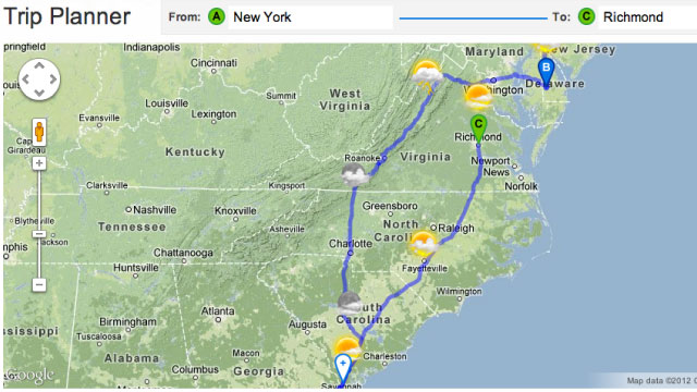 Click here to read Plan Your Road Trip and Pick the Best Weather Along the Way with the Weather Channel's Trip Planner