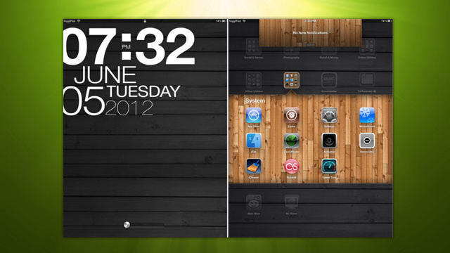 The Wooden Tablet Home Screen