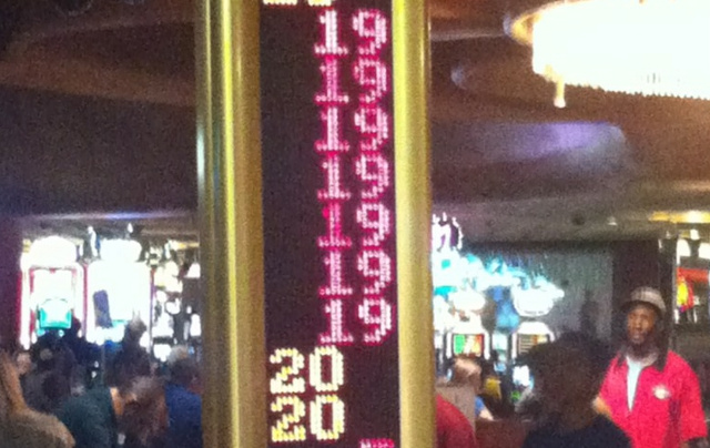 Las Vegas Roulette Wheel Stops on Same Number 7 Times in a Row