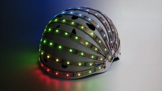 The LumaHelm Is A Bike Helmet That Acts Like Turn Signals