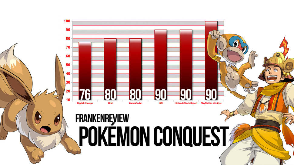 <em>Pokémon Conquest</em> Poses Triumphantly Over the Battered Bodies of Game Reviewers