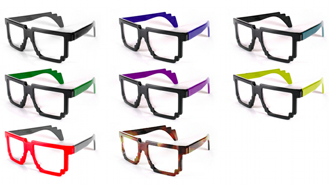These Pixelated Glasses Are The Definition Of Computer-Geek Chic