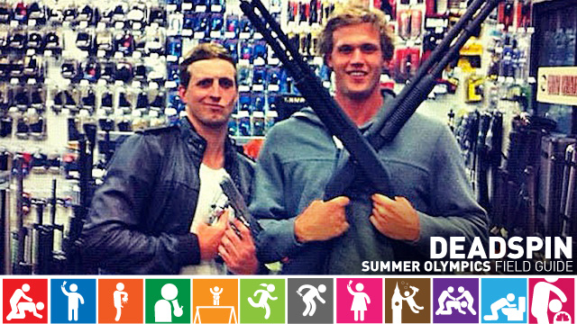 Olympics Field Guide: Nick D'Arcy And Kenrick Monk, Idiot Gun-Toting Aussie Swimmers