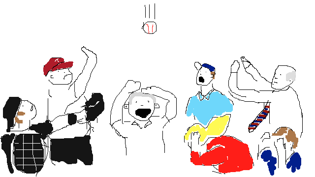 MLB Will Probably Ask Us To Remove That George W. Bush Foul Ball Video, So Here's A Shitty Drawing I Made