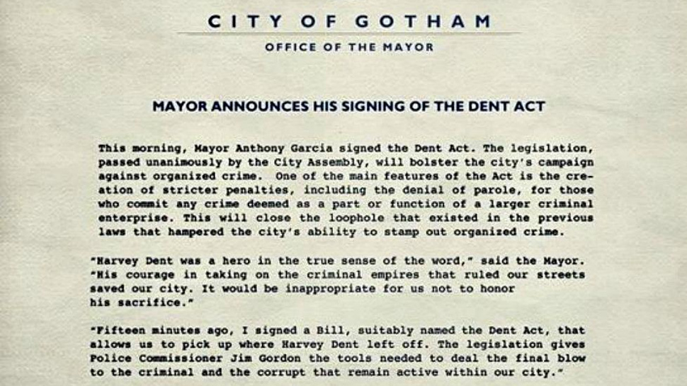 The Dark Knight Rises: The Dent Act
