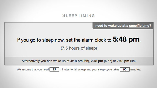Sleeptiming Helps You Calculate When You Need to Go to Bed in Order to Sleep Well