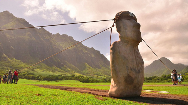"The statues of Easter Island could have ""walked"" into place"