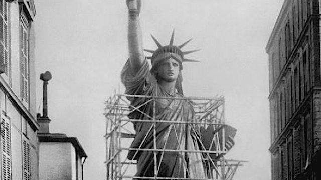 Old photos of the Statue of Liberty standing in Paris were extraordinarily surreal
