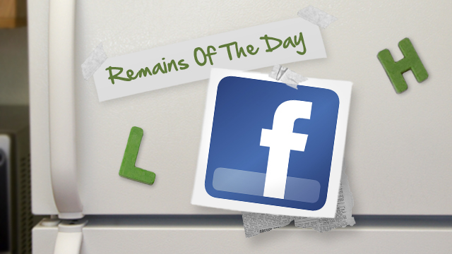 Click here to read Remains of the Day: Facebook Promises Less Crappy iOS App