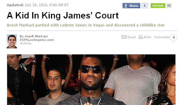 Read ESPN's Spiked Story About LeBron Among The Naked Ladies In Vegas