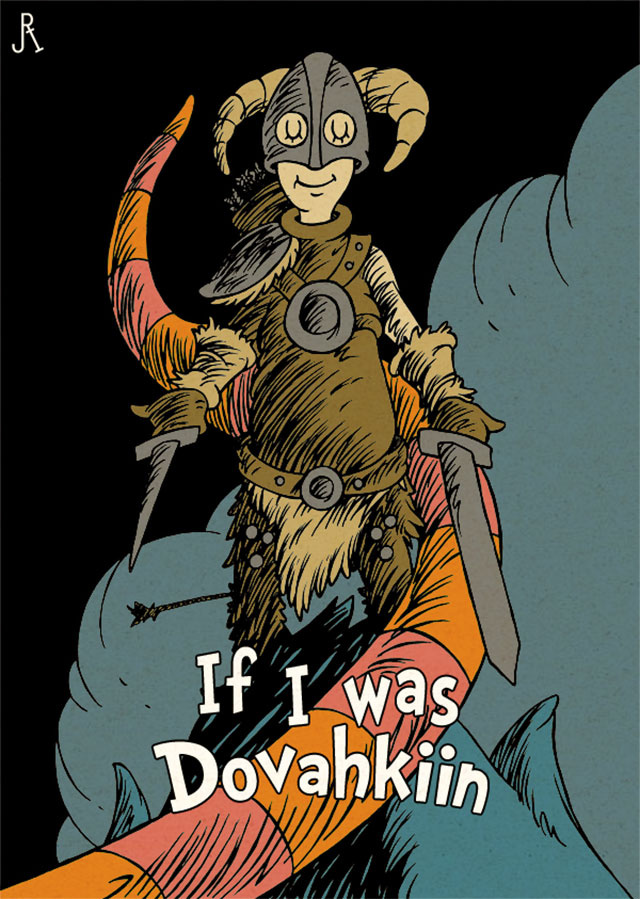 If Dr. Seuss Was Skyrim's Dragonborn...