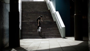 A Skateboard That Can Go Down Stairs