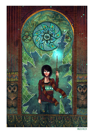 Gorgeous illustrations present Harry Potter as a mythological hero