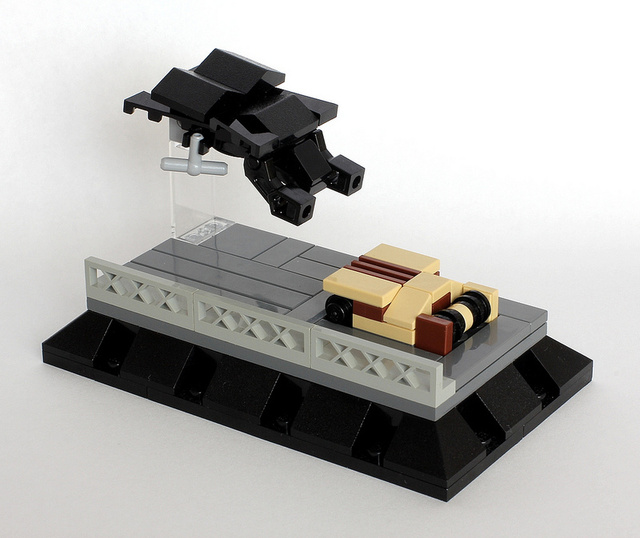 Classic science fiction moments, recreated as minimalist LEGO dioramas