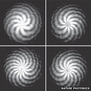 Scientists twist light to transmit an astounding 2.5 terabits of information per second