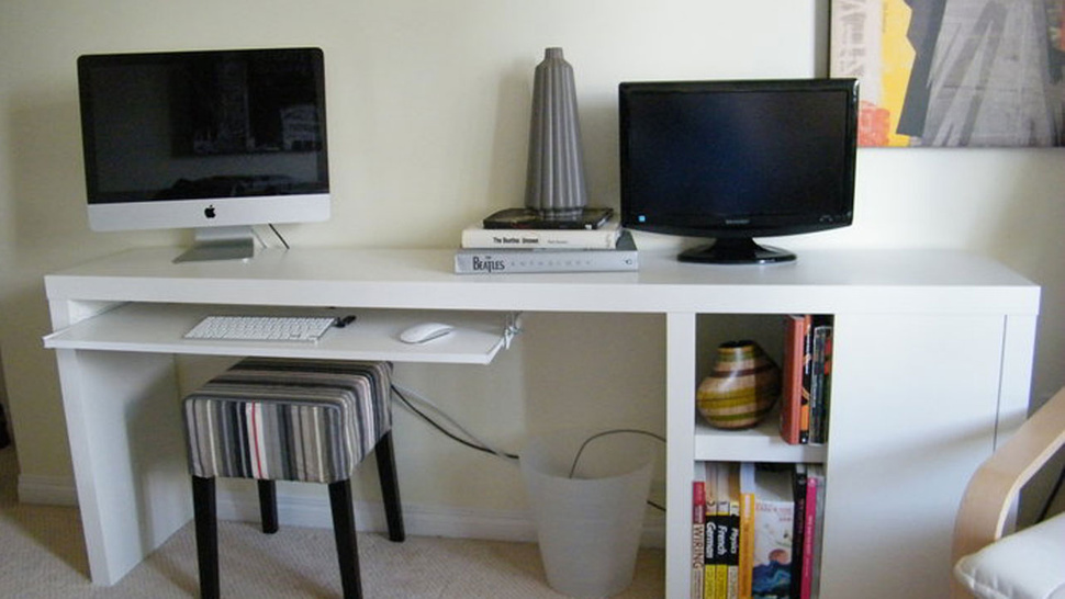 The IKEA-Hacked, Slim Storage Workspace