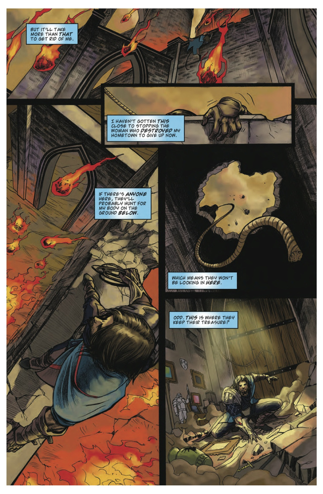 A sneak peek of the newest Magic: The Gathering comic