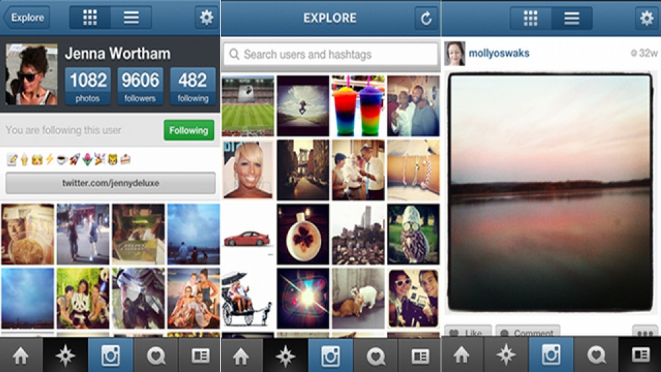 Instagram Update For iOS Brings Speed, Easy Searches And Facebook Sharing