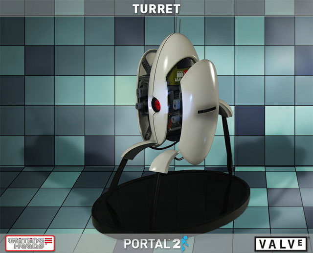 This Portal 2 Replica Turret Will Silently Protect Your Loved Ones for $300. Sound is Extra.