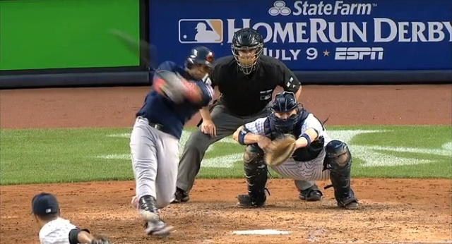 Indians Catcher Carlos Santana Fouls Pitch Off Foot, Recovers, Promptly Does It Again