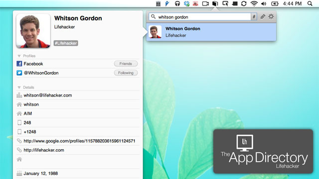 The Best Address Book App for Mac OS X