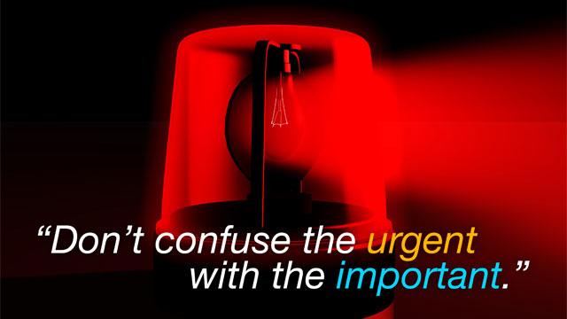 original Dont Confuse the Urgent with the Important