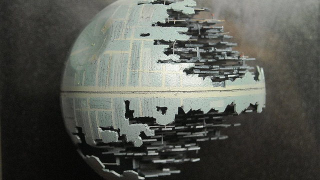 Click here to read That's No Moon...It's An Insanely Detailed Death Star Made Out of a Ping Pong Ball
