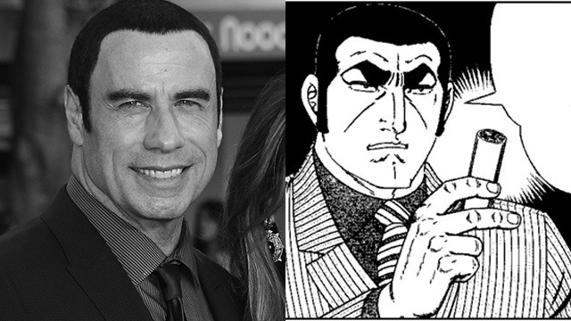 John Travolta Sure Looks Like a Japanese Manga Character