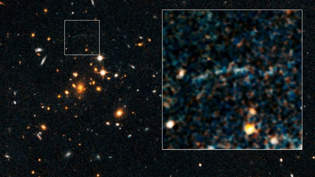 NASA finds a galactic arc in deep space that has no business being there