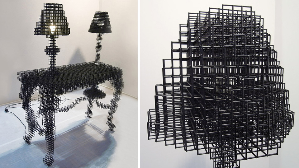 There's Something Incomplete About This Wireframe Desk