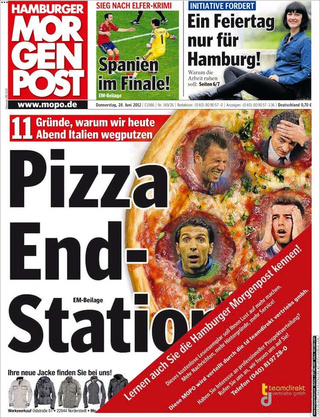 German Newspaper Has Brilliantly Lowbrow Front Page Ahead Of Italy Match