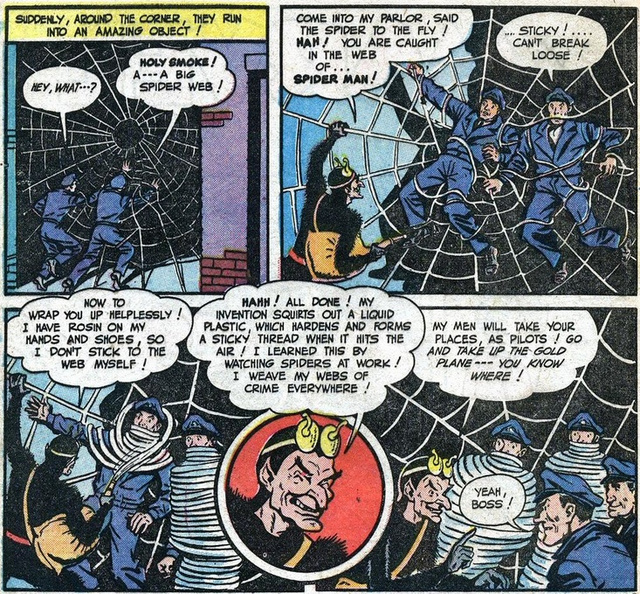 The first Spider-Man in comics wasn't Peter Parker, but a pervert supervillain