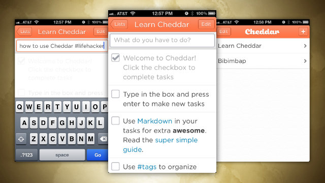 Click here to read Cheddar Is a Simple, Tag-able, Markdown-Capable To-Do App for Your iPhone and the Web