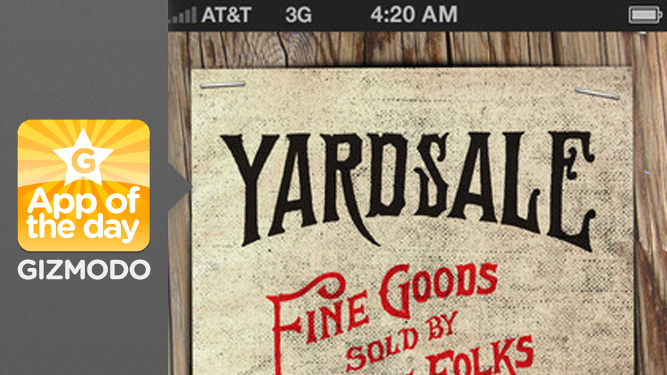Click here to read Yardsale: Use Your iPhone to Sell Stuff