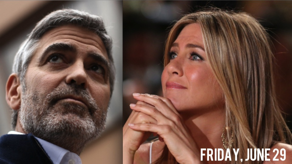 George Clooney And Jennifer Aniston Share Private Jet, Awkwardly Avoid Topic ...