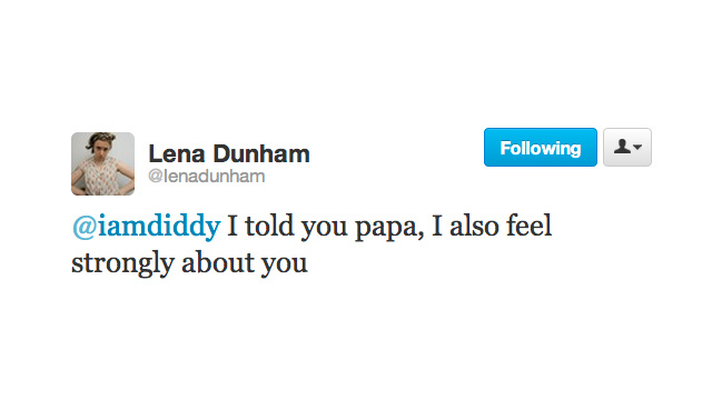 Diddy and Lena Dunham Are the Newest Celebrity Besties