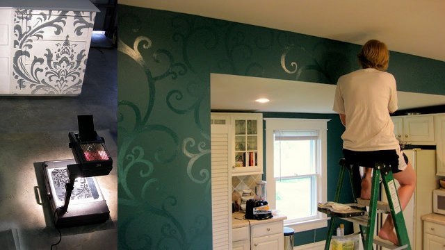 Click here to read Paint Decorative Accents Using an Overhead Projector as a Stencil