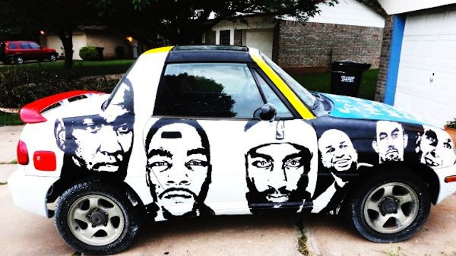 Oklahoma City Thunder Fan Is Selling His Homemade Painted Car