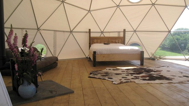 Click here to read Sleeping in a Geodesic Dome Is the Only Way I Want to Camp