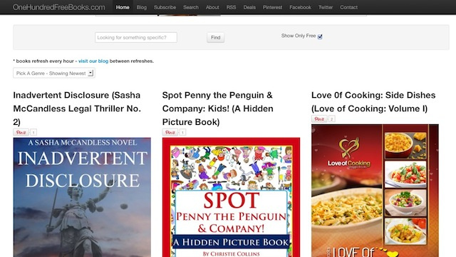 OneHundredFreeBooks Serves Up Free Kindle EBooks Every Hour