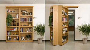 Four Words: Secret. Folding. Bookself. Door. 'Nuff Said.