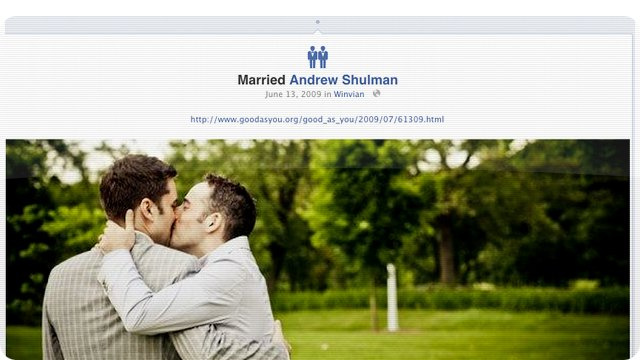 Facebook Adds Gay and Lesbian Marriage Icons