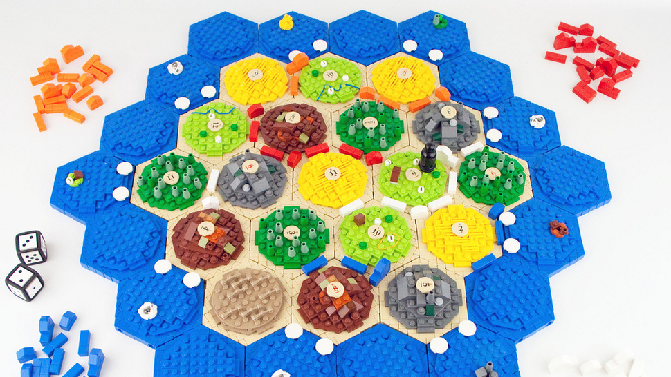 Homemade <em>Settlers of Catan</em> board game turns your sheep into LEGO bricks