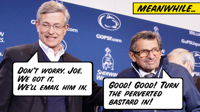 What If Joe Paterno Was Innocent? Hypothetical Dialogues From A Dark Time At Penn State