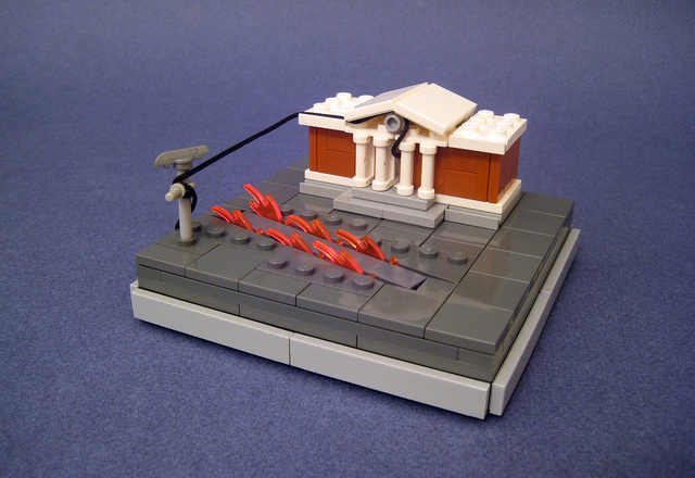 Tiny LEGO Models of Giant Moments in Cinema