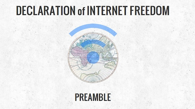Click here to read Let the EFF Convince You to Sign the Declaration of Internet Freedom