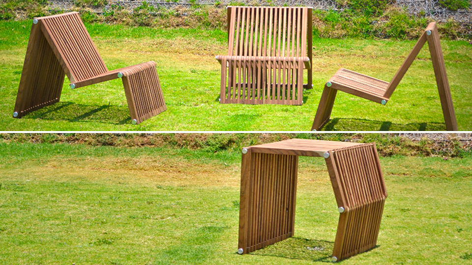 Click here to read Transforming Seat Doubles As an Entire Patio Set